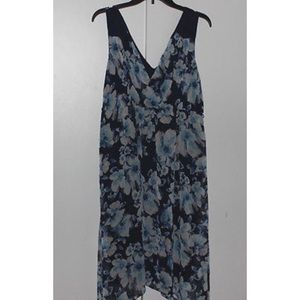 Floral Sleeveless Maternity Dress